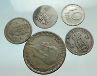 GROUP LOT of 5 Old SILVER Europe or Other WORLD Coins for your COLLECTION i75636