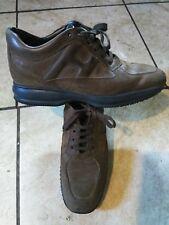 Hogan interactive men brown leather shoes 9.5