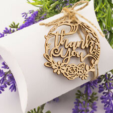 50 Wooden Laser Thank You Floral Wedding Birthday Rustic Favour Gift Tags