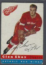 1954-55 Topps Detroit Red Wings Hockey Card #16 Glen Skov