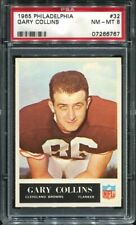 1965 Philadelphia #32 Gary Collins PSA 8 Cleveland Browns