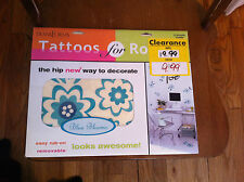 TransForms Tattoos For Rooms wall/floor tattoos room decorations Blue Blooms NEW