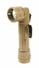 New Coyote Full Size GI Army Style D Cell Angle Head Flashlight - Uses 2 D Cell