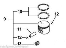 piston assembly echo chainsaw cs-670 csg-680 qv-670