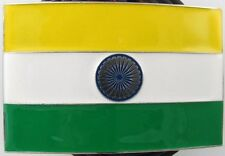 Indian National Flag India Flag Enamel Belt Buckle to fix to own belt New