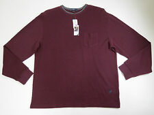 Knit Shirt SZ XL Cremieux Classics 38 Mens Long Sleeve Wine Crewneck $69