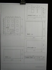 Dollhouse Plans: Georgian Town House  front opening design  1/12 scale A03