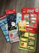 Mixed Lot Of Christmas Party Bags, Gift Tags And Stickers