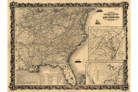 Thayers 1861 Statistical Military Map; Civil War, Antique Fine Reproduction