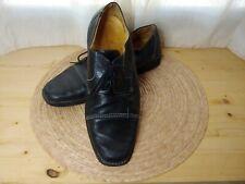 Sandro Moscoloni Mens Soft Black Leather Oxford Cap Toe Shoes Size 12D Brazil