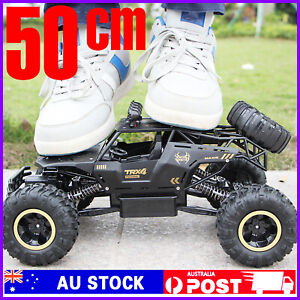 HUGE 4WD Monster Truck Off-Road Buggy Crawler Kids Toy Remote Control Car RC RTR