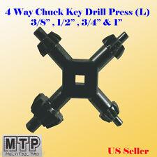 4 Way Chuck Key Drill Press Lg 12 34 38 1 Universal Combination 5 8