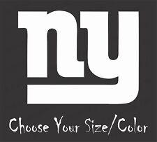 NEW YORK GIANTS Football Vinyl Decal Sticker for NFL Car Truck Window YETI RTIC