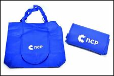 Blue Shopping Bag Tote Large Cloth Folds to Wallet Size By NCP National Consumer