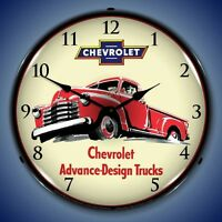 Old 1953 Chevrolet Truck new LIGHT UP advertising clock Fast Free Ship 🇺🇸🇺🇸