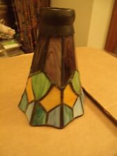 VINTAGE TIFFANY Style STAINED GLASS TULIP GLASS LAMP SHADE