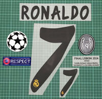 2013/2014 Real Madrid RONALDO #7 UCL Name Number Set + Champions Patch