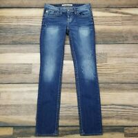 Big Star Women's 26 Long Casey K Skinny Fit Jeans Low Rise Blue 26L