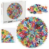1000 Piece Round Blooming Colorful Mandala Jigsaw Puzzle For Adults Kids Teens