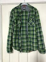 Superdry Green Casual Shirt  Size Medium Womens Long Sleeve Great (D903)