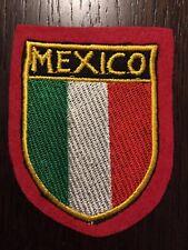 Patch toppa CM8X6 scudetto in stoffa ricamato MEXICO MESSICO