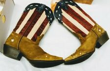Laredo Ladies Keyes Stars and Stripes Flag Boots  SZ 10. NEW IN BOX