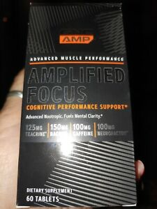 Gnc Amp Amplified Focus Cognitive Performance Support 60 Tabs Exp 4.21
