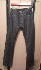 Todd Snyder Black Rinse  Selvage Button Fly Jeans Sz. 32 32-36 NWOT