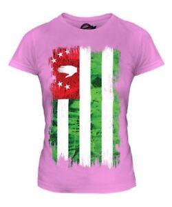 Abchasien Grunge Flag Damen T-Shirt Oberteil Apsny Abkhaziya