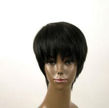 perruque afro femme 100% cheveux naturel courte noir ref JEAN 01 1B