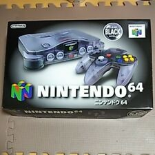 Nintendo 64 Clear Black Console Set Japan N64 Boxed MINT USED