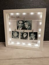 PERSONALISED LIGHT UP FAMILY PHOTOS BOX FRAME, Wedding, Birthday, Christening