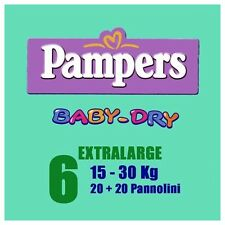 Pampers Pannolini Baby Dry XL 15-30 Kg pacco doppio XL 15-30 Kg 38 pannolini