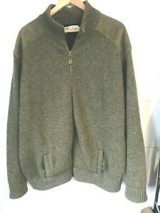 """Harley Scotland green knitted wool shooting jacket size XL/48""""-50""""chest"""