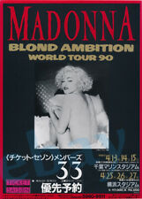 Madonna Blond Ambition Tour Japan Tickets Promo Trade Ad Rare Vogue I Rise