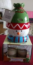 YANKEE CANDLE CHRISTMAS COOKIE TEALIGHTS & YANKEE SNOWMAN TEALIGHT HOLDER GIFT