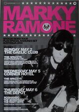 MARKY RAMONE 2004 RARE ORIGINAL 2013 Tour Poster AUSTRALIA Ramones Punk Rock