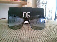 Dolce & Gabbana D&G White Frame Large Aviator Sunglasses