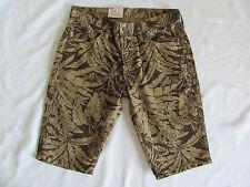 Levi's 511 Slim Shorts -Hawaiian Palms Brown Green -Size 30 -NWT Retail $54