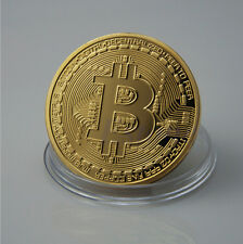 BTC Coin Art Collection Bitcoin Coin Gold Plated Physical Collectible Gift