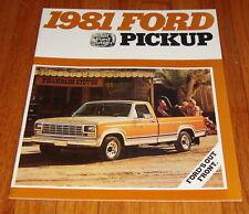 Original 1981 Ford Pickup Sales Brochure F-100 F-150 F-250 F-350 Ranger Truck