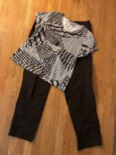 Women's Chico's Sz 2.0 (12) Outfit:Top; Pants. NWOT Necklace. EUC!