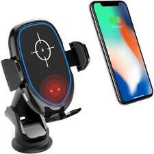 Automatic Clamping Qi Wireless Car Charger / Receiver Mount for iPhone / Android