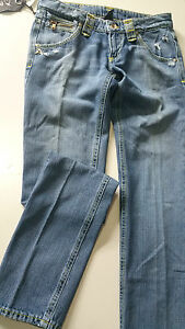 Jeans Women Priorite' Size 31 It 45-46 Trousers Blea New Retro Particular