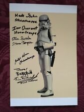 Autogramm Star Wars Original Grossformat 6 Stormtrooper