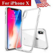 For Apple iPhone X 10 Case Crystal Clear Bumper Silicone Gel  cover slim thin
