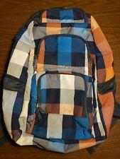 "Dakine Plaid Padded 14"" Laptop Sleeve Pockets Backpack School Bag"