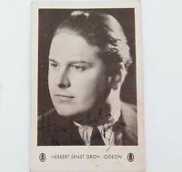 .SCARCE c1940s HERBERT ERNST GROH SWISS TENOR & FILM ACTOR HANDSIGNED POSTCARD