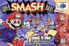 RGC Huge Poster - Super Smash Bros. 64 Nintendo 64 N64 BOX ART - N64046