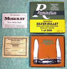 Mint 1988 Remington  Engraved Muskrat SILVER Bullet Knife